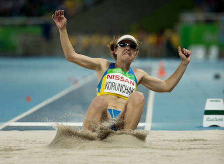 2f1a2e969d Iuliia Korunchak UKR competing in the Women s Long Jump - T12 Final  Athletics in the Olympic Stadium. The Paralympic Games