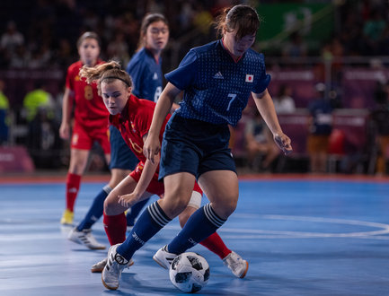 ... competes in the Futsal Womens Tournament Semi-final of Spain v Japan at  the Futsal Main Stadium, Tecnopolis Park. The Youth Olympic Games, Buenos  Aires, ... 81c1f67291